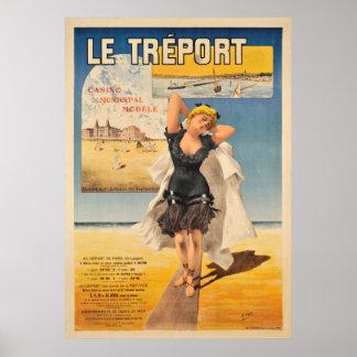 Le Treport Art Nouveau Vintage Travel Poster