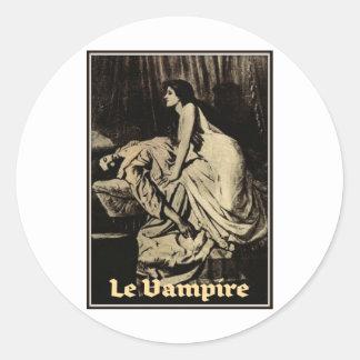 Le Vampire by Burne-Jones 1897 Round Sticker