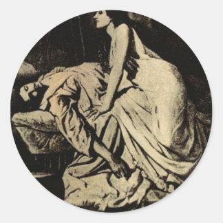 Le Vampire by Burne-Jones 1897 Round Stickers