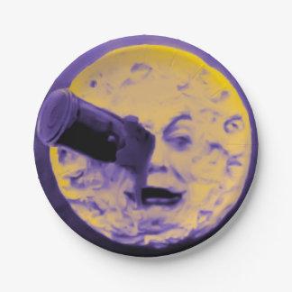 Le Voyage dans la Lune Vintage Freaky Purple 7 Inch Paper Plate
