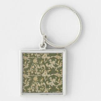 'Lea', 1912 Silver-Colored Square Key Ring
