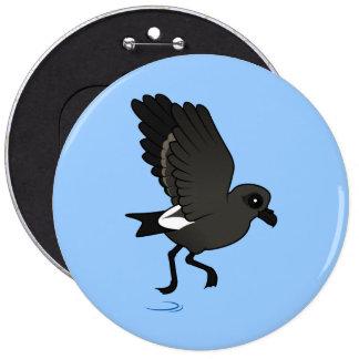 Leach's Storm Petrel (flutter) 6 Cm Round Badge