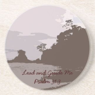 Lead and Guide Me - Psalm 31:3 Coaster