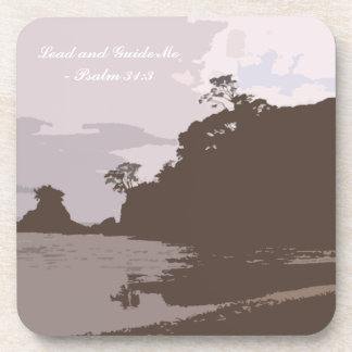 Lead and Guide Me - Psalm 31:3 Drink Coaster