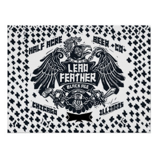 Lead Feather Black Ale Poster