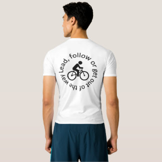 """Lead, Follow"" cycling active tops for men"