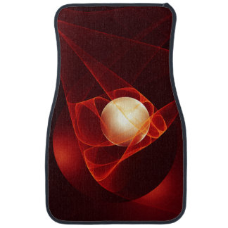 Lead Me Into Temptation, Abstract Red Fractal Art Car Mat