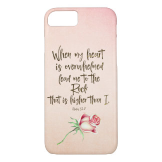 Lead me to the Rock Psalms Bible Verse iPhone 8/7 Case