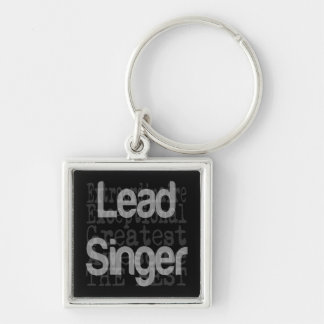 Lead Singer Extraordinaire Silver-Colored Square Key Ring