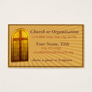Leaded Glas Church Window Business Card- customize Business Card