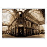 leadenhall market antique look Image Greeting Card