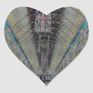 Leadenhall Market London Heart Sticker