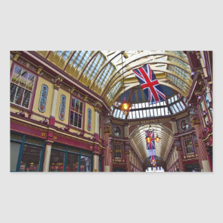 Leadenhall Market London Rectangular Sticker