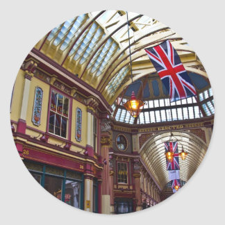 Leadenhall Market London Round Sticker