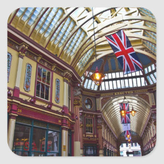 Leadenhall Market London Square Sticker