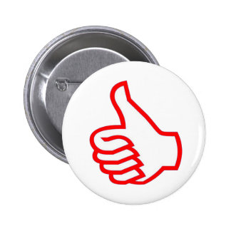 Leader  MOTIVATIONAL Tools :  THUMBSUP 6 Cm Round Badge
