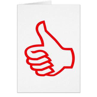 Leader  MOTIVATIONAL Tools :  THUMBSUP Greeting Card