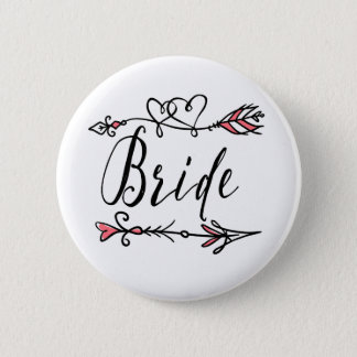 Leader of the Bride Tribe Round Button