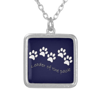 Leader of the Pack Dog Lover's Square Pendant Necklace