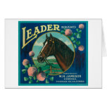 Leader Orange LabelCorona, CA Greeting Cards