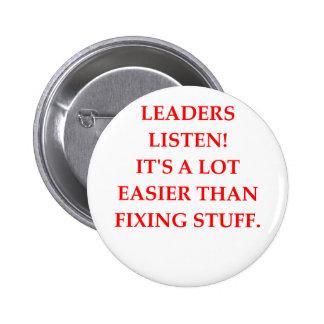 LEADERs 6 Cm Round Badge