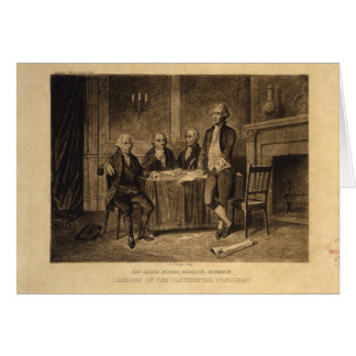 Leaders of the Continental Congress by A. Tholey Card
