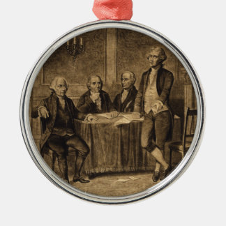 Leaders of the Continental Congress by A. Tholey Silver-Colored Round Decoration