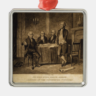 Leaders of the Continental Congress by A. Tholey Silver-Colored Square Decoration