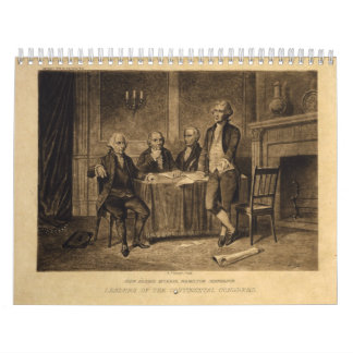 Leaders of the Continental Congress by A. Tholey Wall Calendar