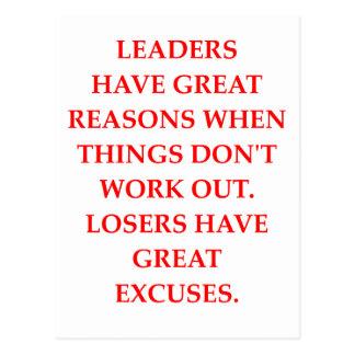 LEADERS POSTCARD