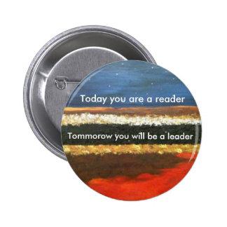 Leaders read 6 cm round badge
