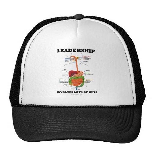 Leadership Involves Lots Of Guts (Digestive Humor) Mesh Hats