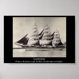 LEADERSHIP Motivational Sail Ship Print