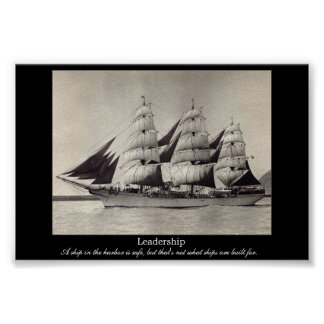 LEADERSHIP Motivational Sail Ship Print