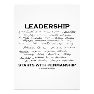 Leadership Starts With Penmanship Signatures Full Color Flyer