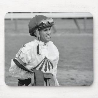 """Leading Rider at Saratoga"" Mouse Pad"