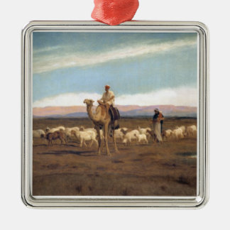Leading the Flock to Pasture (oil on canvas) Christmas Ornament
