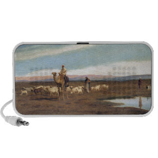 Leading the Flock to Pasture (oil on canvas) iPhone Speaker
