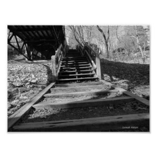 Leading up stairs print