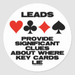 Leads Provide Significant Clues About Key Cards Sticker