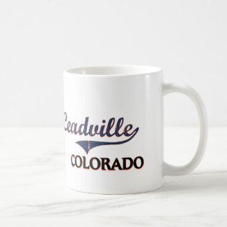 Leadville Colorado City Classic Basic White Mug