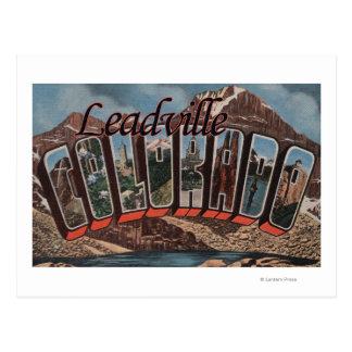Leadville, Colorado - Large Letter Scenes Postcard