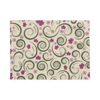 Leaf abstract designs doormat