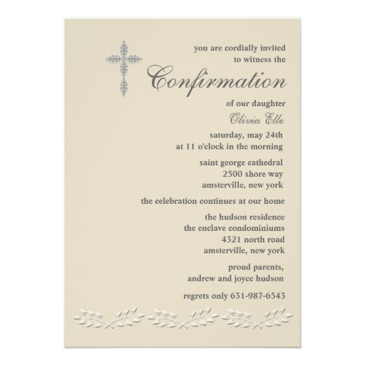 Leaf Accents Confirmation Invitation