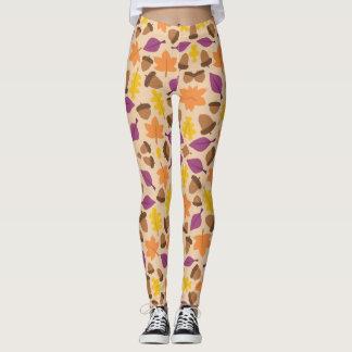 Leaf & Acorn Fall Print Leggings