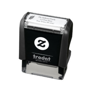 Leaf Address Self-inking Stamp