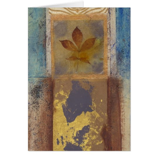 Leaf and Abstract Card