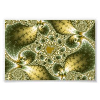 Leaf And Gold - Fractal Art Photo Art