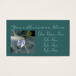 Leaf And Water Drop Business Card