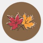 Leaf Art 2 Round Stickers